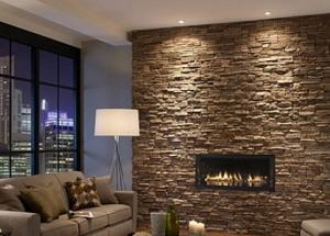 Декоративный камень в интерьере современной квартиры