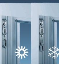 Prozori su plastični zimski režim podešavanja.