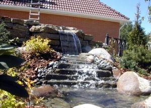 Декоративные водопады, делаем водопад своими руками, полезные советы