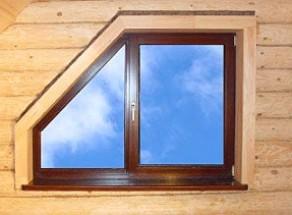 Puzdro: okenné puzdro, puzdro na dvere. Výpočet rozmerov, výroba a montáž obalov. Malé okno v drevenom dome.