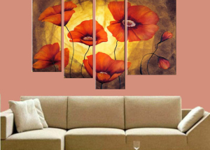 Modularne slike, što je to, modularne slike u modernom interijeru kuće