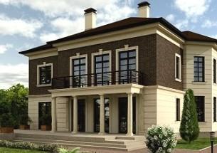 Дом с колоннами, колонны в интерьере, технология строительства