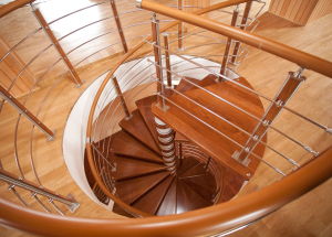 Поручни и перила для лестницы - из какого материала делать и как производить установку