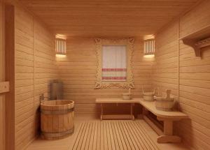 Поставата за внатрешно завршување на бањата: облик на аспен, вар ленти, постава елдер. Плакнење на бањата одвнатре, со свои раце.