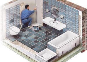 Kaip pasirinkti ir taikyti hidroizoliacines medžiagas sienoms ir vonios grindims, kad nepažeisti kaimynų