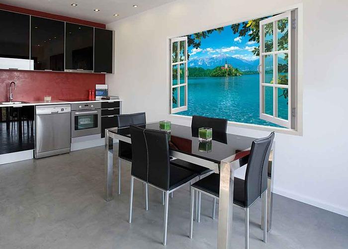 Фотообои на кухню: фото интерьеров и советы по выбору Дизайн…