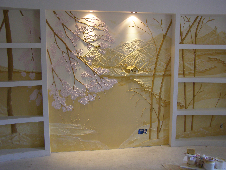 Декор стен с фактурным