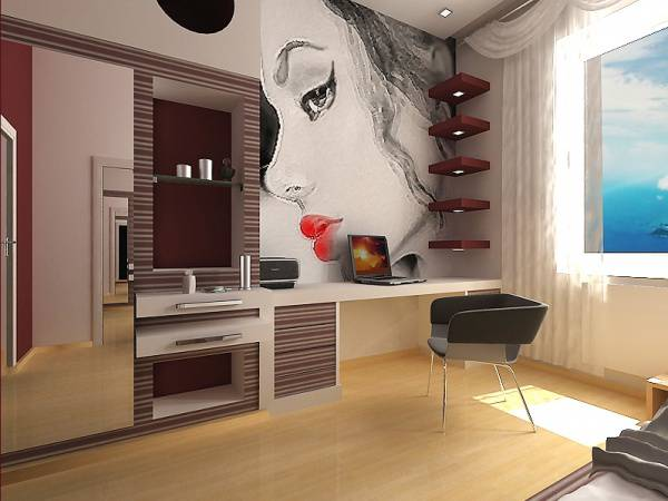 спальня для подростков дизайн фото