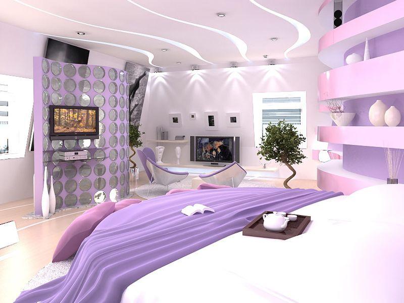 Дизайн спальни эркер