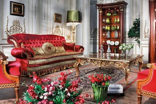 црвено-мебел