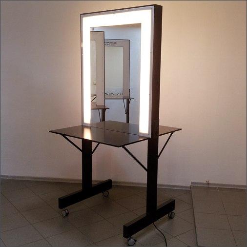 Зеркало для ванной с подсветкой своими руками