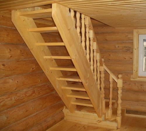 Чертеж лестницы на мансарду