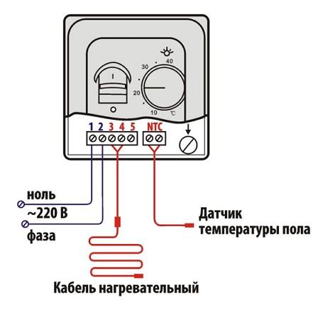подклучение-терморегулятора