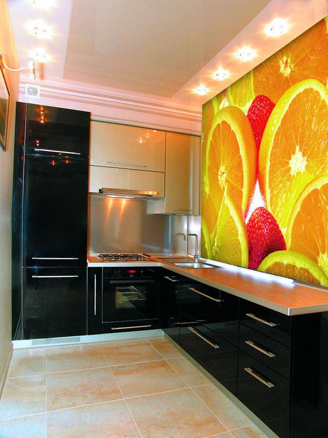 Интерьер кухни фотообои для кухни
