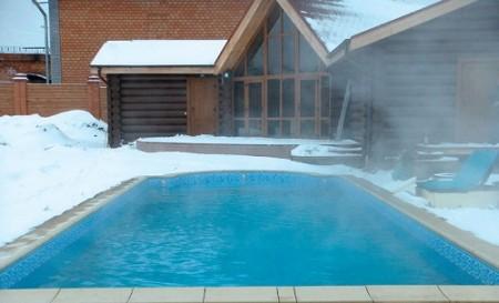 наполняем бассейн на зиму