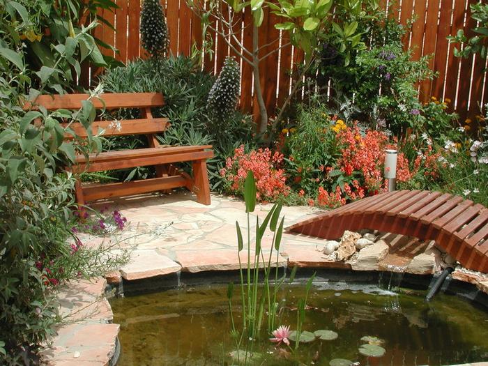 Ein Teich im Garten, einen Teich im Garten schaffend