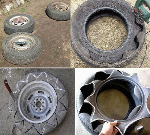 Чем разрезать шину для поделок 602