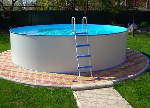 Как сделать подиум для бассейна