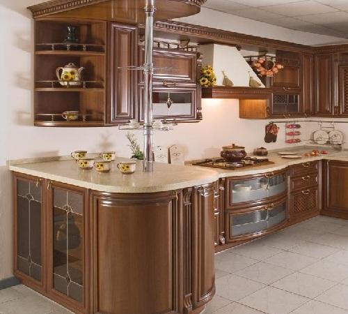 кухни классические с барной стойкой фото
