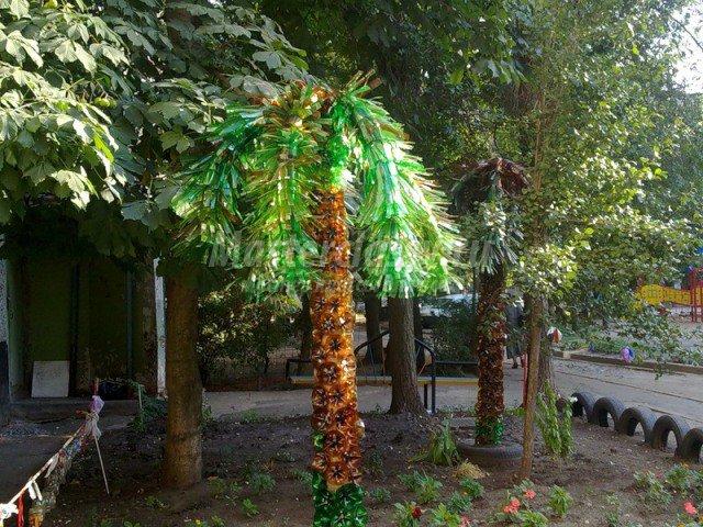 Как сделать пальмы из баклажек
