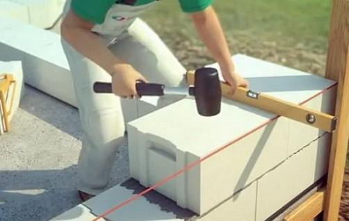 Как класть газоблок своими руками видео