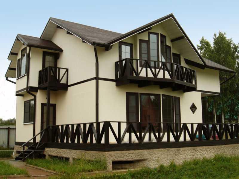 Отделка фасада домов из сруба