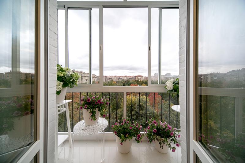 Французский балкон  изнутри