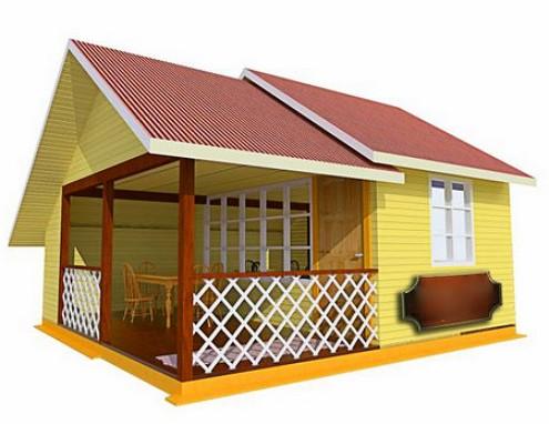 Летняя кухня с верандой на даче