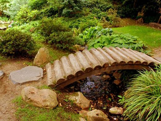 Садовые мостик своими руками
