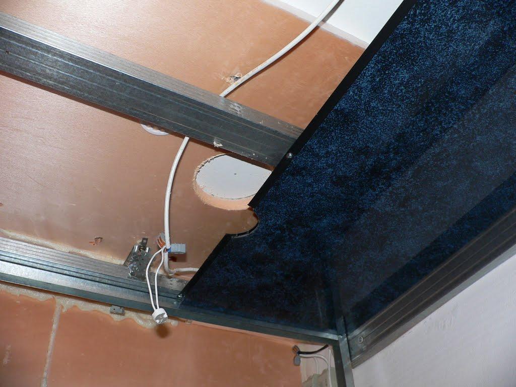 Потолок в ванну из панелей своими руками видео