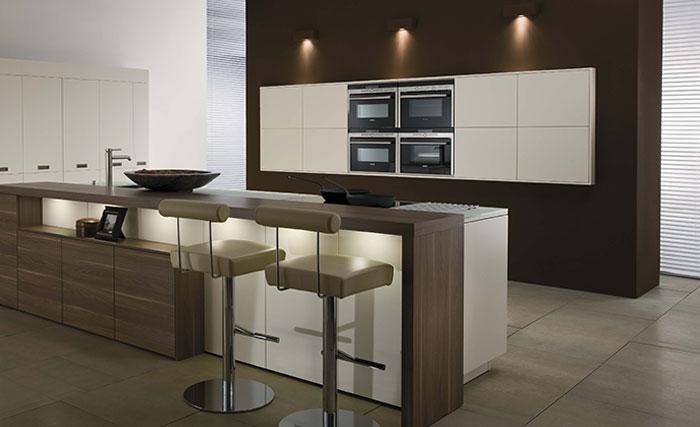 Desain interior foto dapur besar modern Foto desain interior