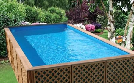 самодельный бассейн готовый