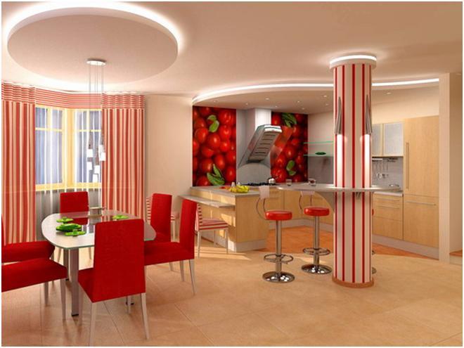Дизайн интерьера кухни. . Готовые проекты интерьеров