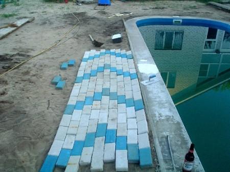 укладка возле бассейна