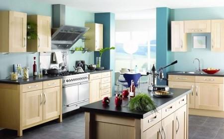 malerei von Wänden in der Küche