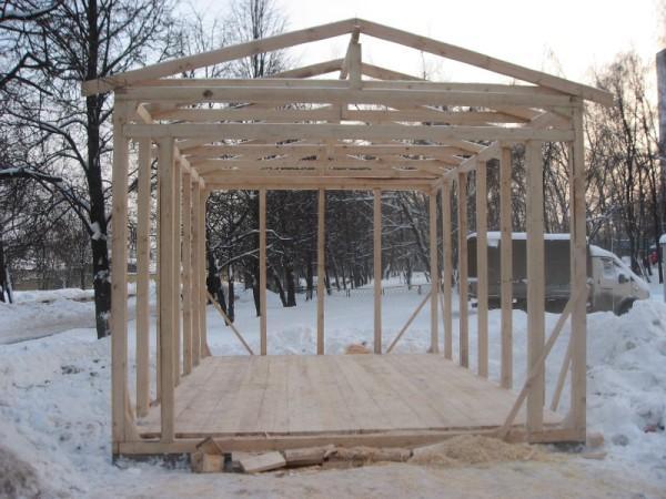 Деревянные гаражи фото