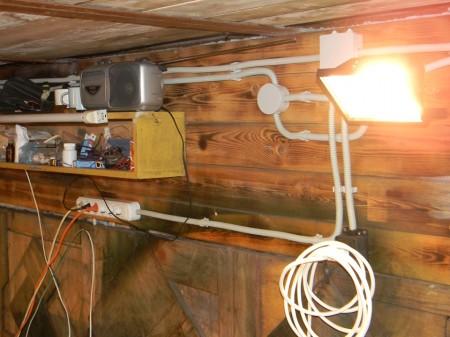 проводка в гараже.