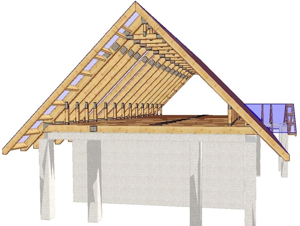 Как сделать двухскатную крышу дома фото 275
