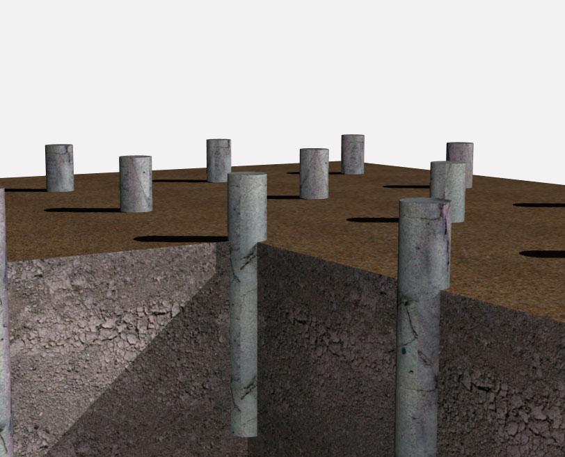 Свайный фундамент из асбестоцементных труб своими руками