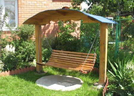 Садовые стол и скамейка своими руками