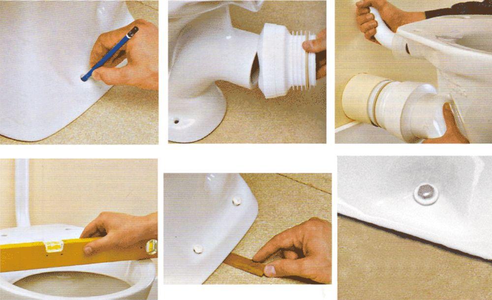 Подключение унитаза к канализации своими руками в частном