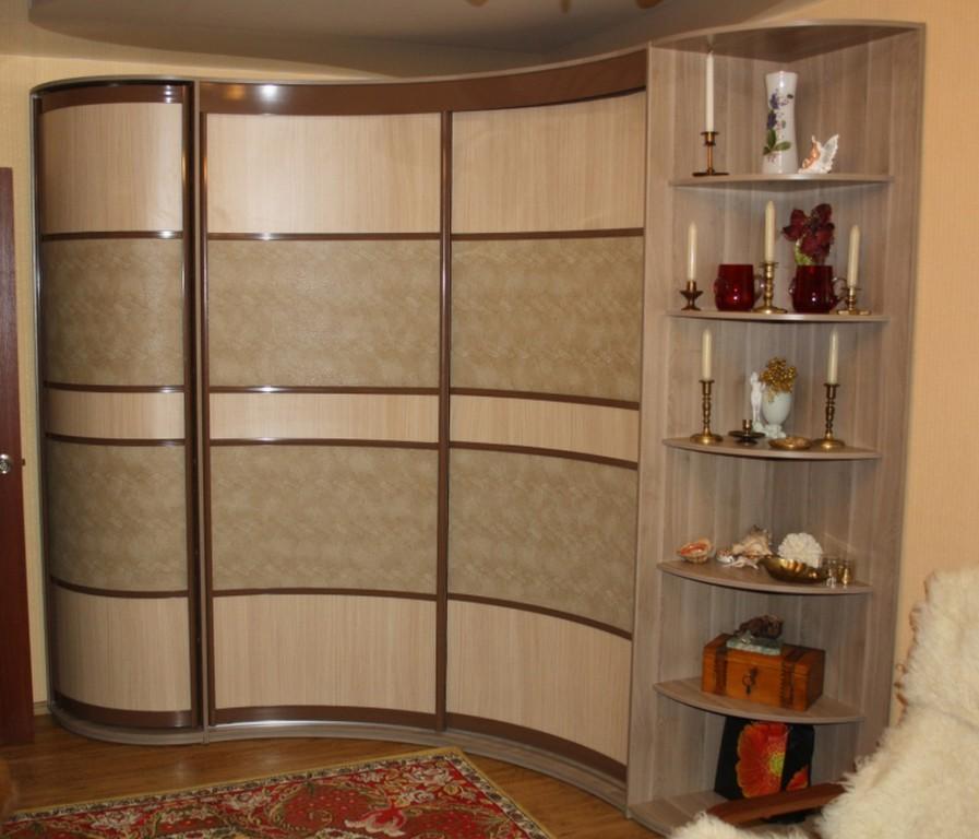 Радиусные шкафы-купе в современном интерьере. делаем своими .