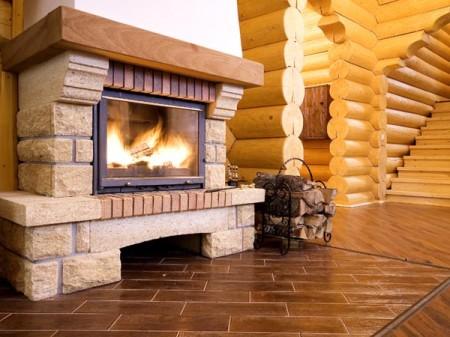 dimnjak u drvenoj kući