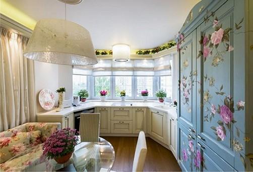Dapur dilengkapi-dengan-kerja-daerah-to-bay window