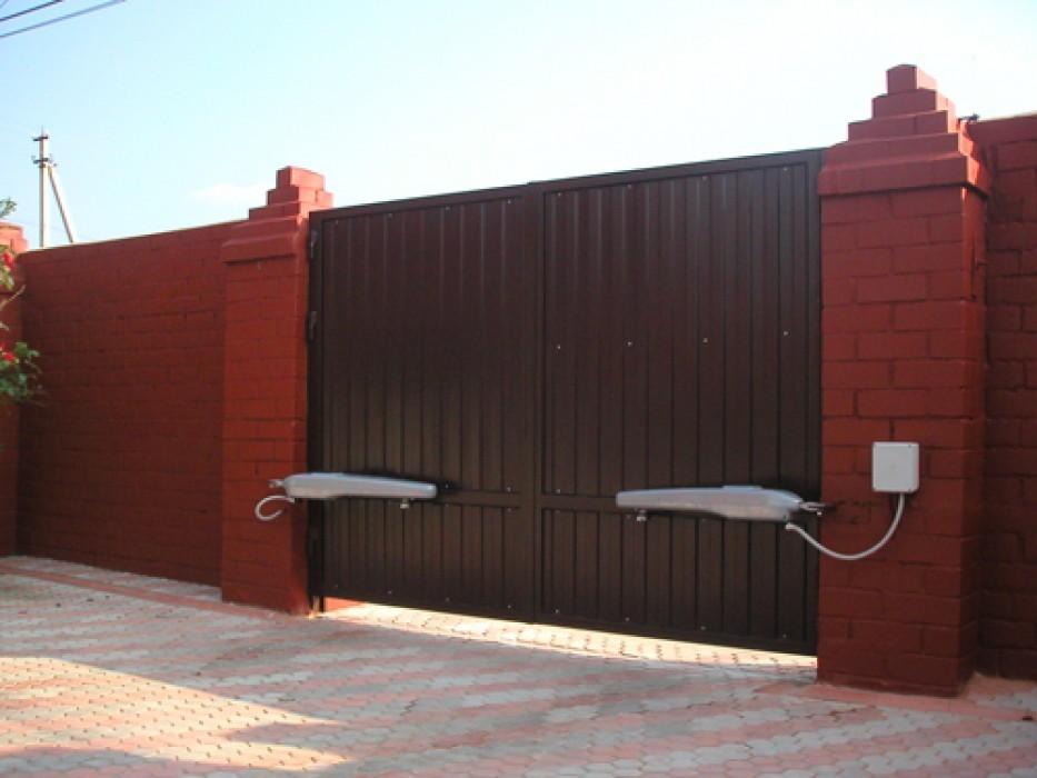 Ворота сделать распашные ворота своими руками чертежи