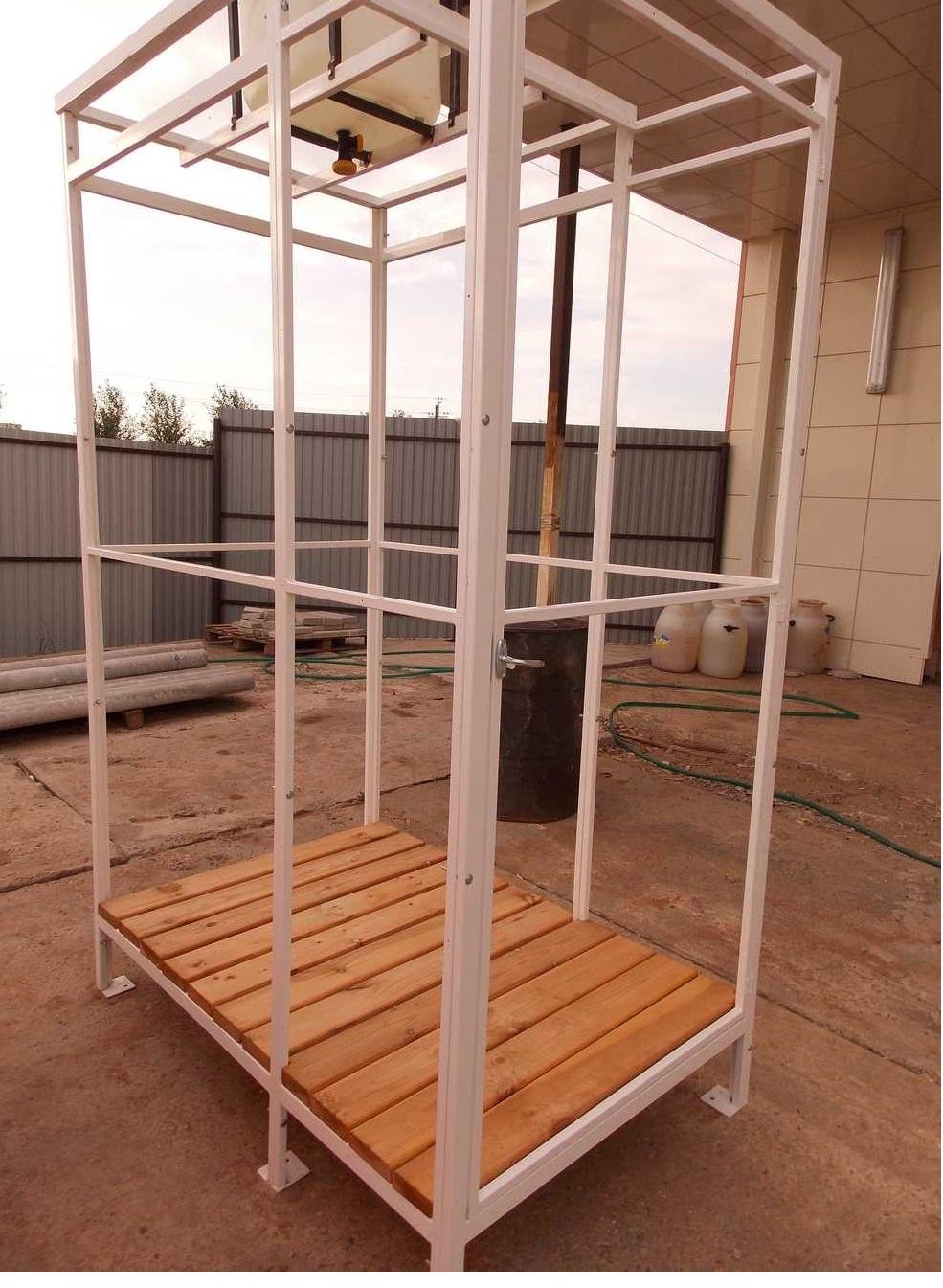 Летний душ для дачи: постройка своими руками 22