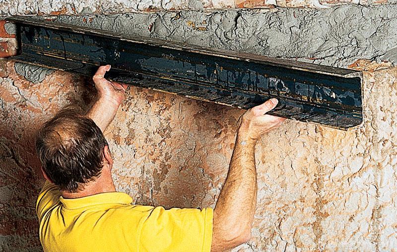 Как сделать проем в несущей стене, как усилить проем своими .