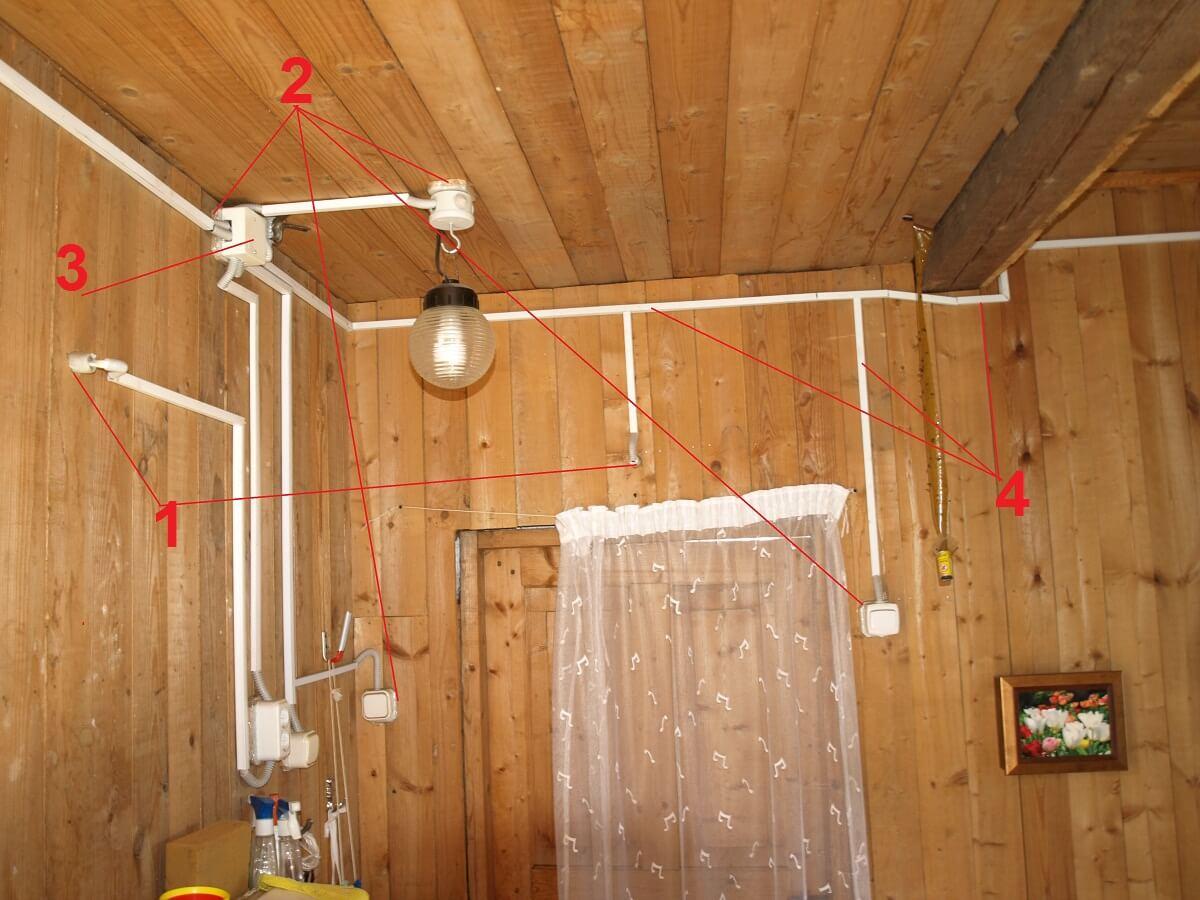 Как сделать электропроводку в дачном доме своими руками пошагово