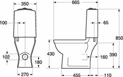 8-ऊंचाई शौचालय कटोरा-कॉम्पैक्ट