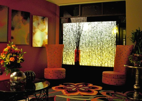 Lobby Hotel Dallas Design District, Dallas Texas-dinding semak-semak